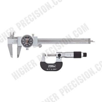 Blackface Measuring Set: Caliper and Micrometer