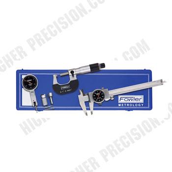 Blackface Measuring Set: Caliper, Micrometer & Test Indicator