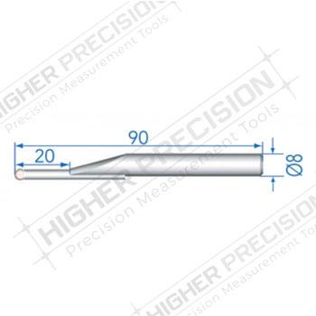 4mm Tungsten Carbide Ball Probe 90mm Length # 54-194-909