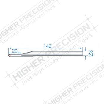 4mm Tungsten Carbide Ball Probe 140mm Length # 54-194-910