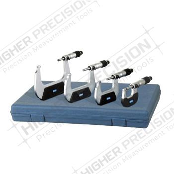 Swiss-Style Outside Micrometer Set # 52-229-214