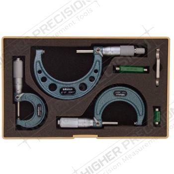Series 103 Outside Micrometer Sets – .0001″ Graduations
