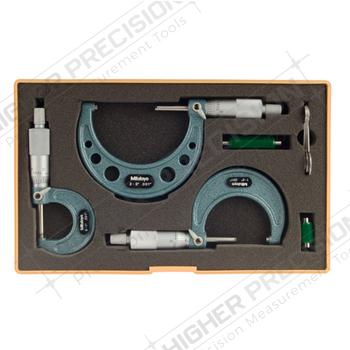 Series 103 Outside Micrometer Sets – .001″ Graduations