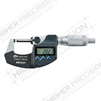 IP65 Coolant Proof Micrometers w/ Ratchet Thimble & SPC Output – Metric