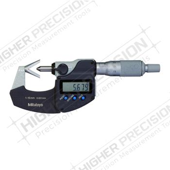 Electronic 3 Flute V-Anvil Micrometers – Metric