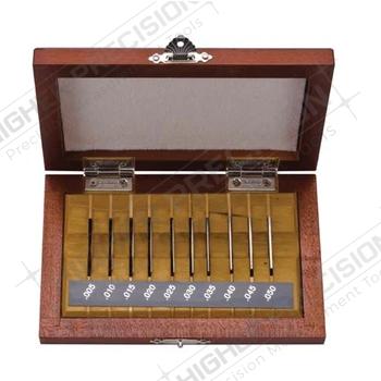 10 Piece Grade AS-1 Steel Rectangular Gage Block – Thin Block Set # 516-927-26